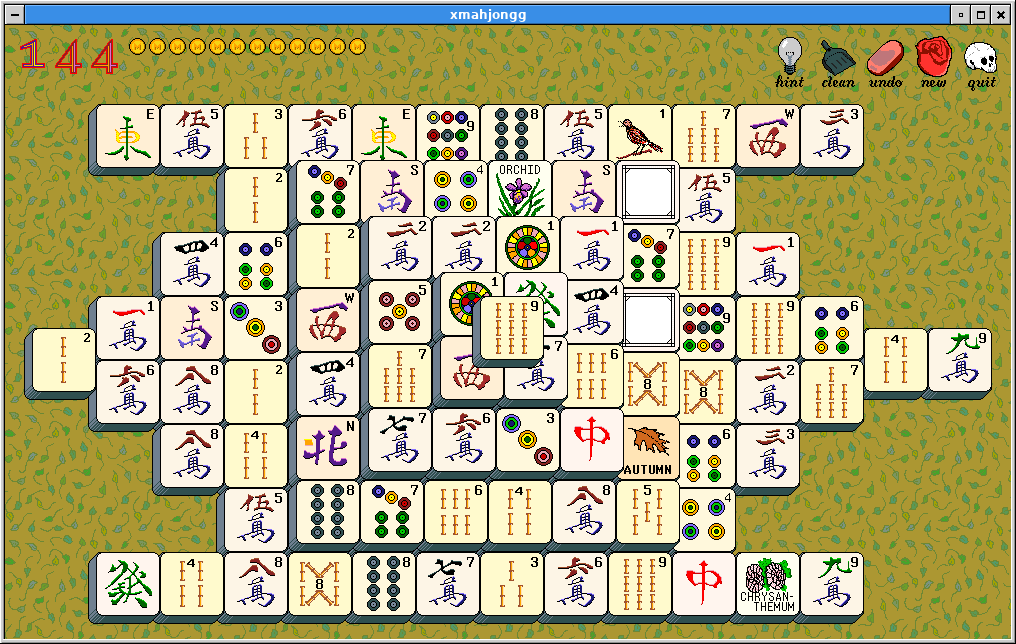 A game of XMahjongg, version 3.7