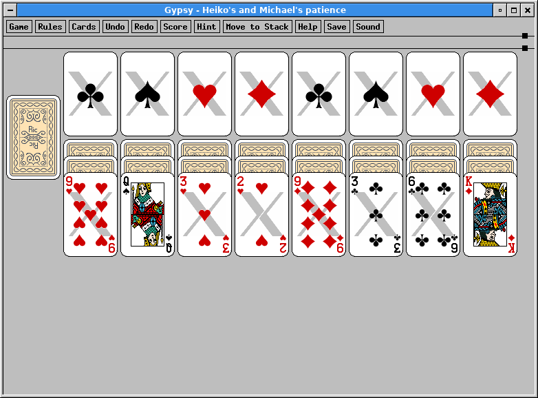 Running XPat2 with Gypsy Solitaire rules