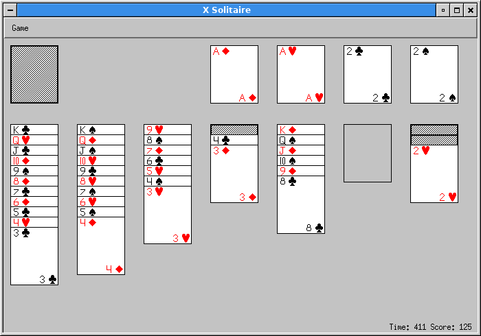 A round of solitaire, almost won