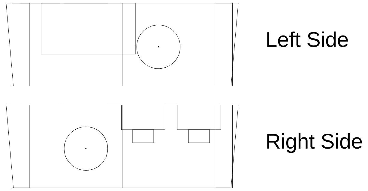 Left and Right view CAD drawings