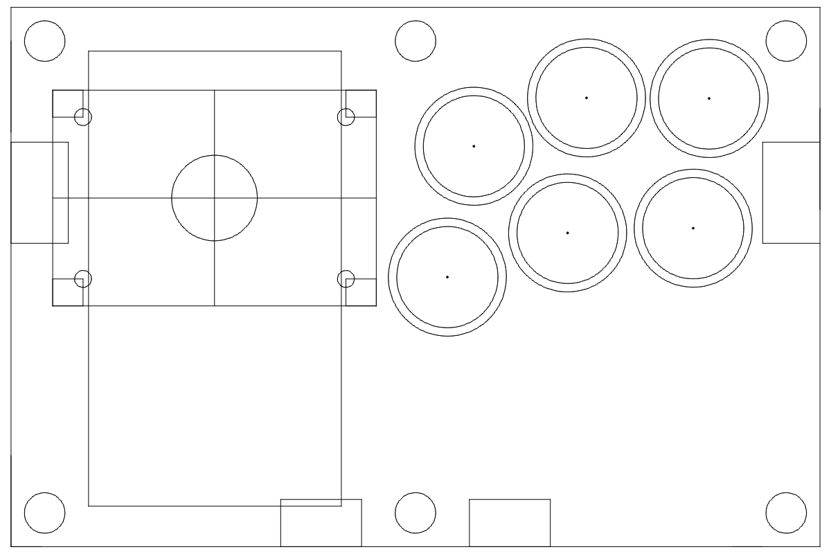 Top-view CAD drawing